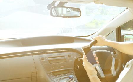 intérieur de voiture avec la lumière du soleil