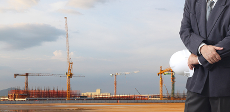 industry of construction site and engineer working Stock Photo