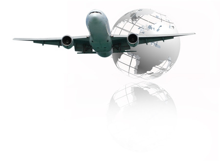 Airplane is flying over the sky for Business trip, Transportation, import-export, logistics management Imagens - 121749534