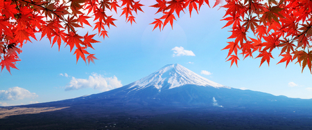 Colorful Autumn Season and Mountain Fuji  Kawaguchiko is one of the best places in Japan