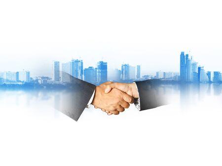 world financial business concept handshake Imagens