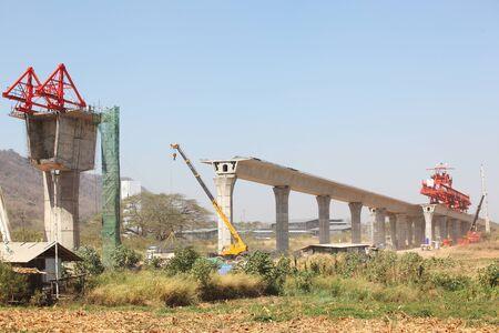 Industry of  Big construction  a bridge  Stock Photo