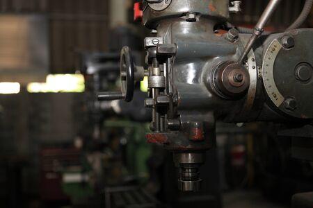 big engine gear drilling machine Archivio Fotografico