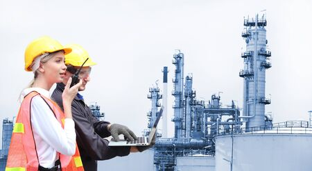 Production engineer with oil and chemical refinery
