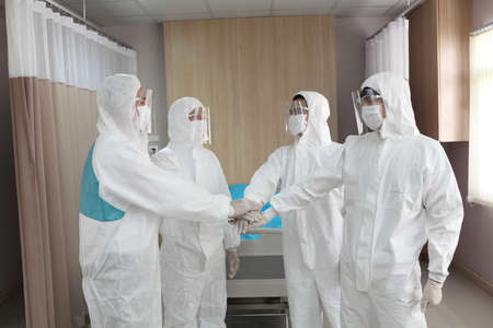 Covid-19 concept. People wearing mask for protect cough with Covid-19 virus outbreak,  new normal