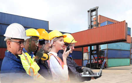 Logistics Industrial Container Cargo freight ship for Concept of fast or instant shipping