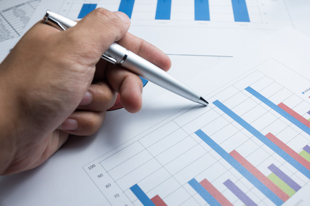 Financial graphics diagram for work business and economic
