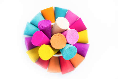 beautifully: Colored chalk sticks for use with multi color paint on paper. Beautifully arranged