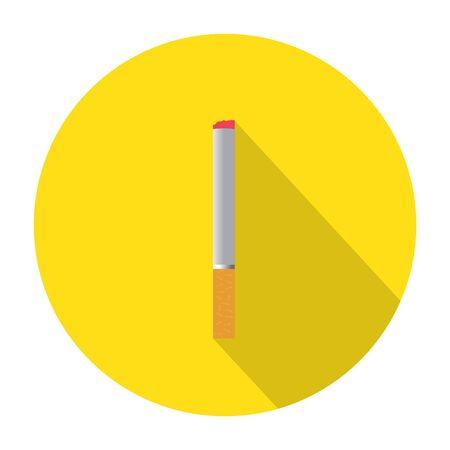 healthier: Cigarette vector icon illustration. Smoking symbol. Illustration