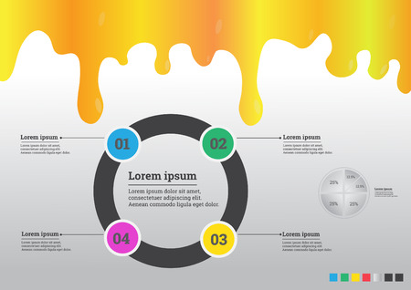 succeed: Infographic businesses for projects to succeed. Template vector illustrations, text in different positions Illustration