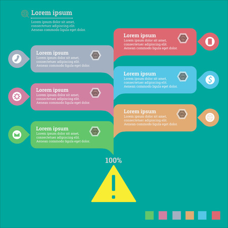 succeed: Infographic businesses for projects to succeed. Template vector illustrations, text in different positions.