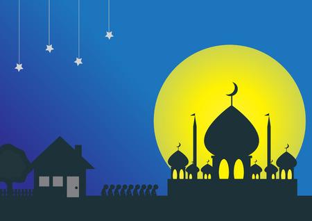 hari raya celebration vectorillustration EPS.10