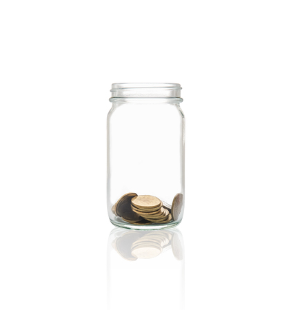 Coins in a bottle, Represents the financial growth. The more money you save, the more you will get.