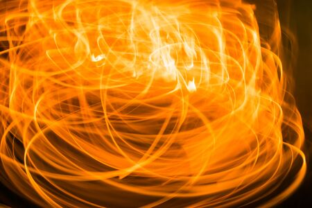 Blurred orange light moment background, Fire texture