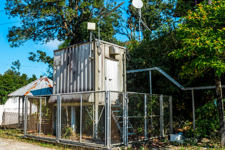 Estación de monitoreo de calidad del aire y meteorología Foto de archivo