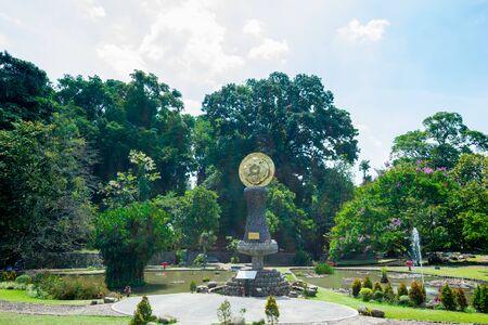 Blick auf den Garten von Bogor Botanical Gardens, es befindet sich in Bogor, Indonesien. Standard-Bild