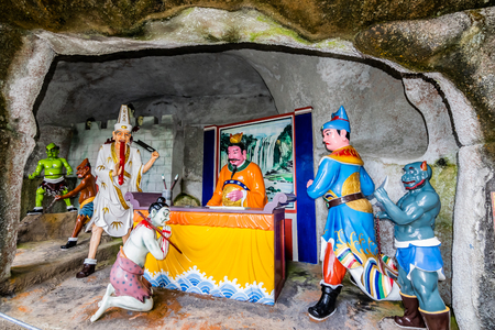 Kuala Lumpur, Malaysia, December 09, 2018: View of Naraka or Buddhist Hell at Chin Swee Caves Temple, the Taoist temple in Genting Highlands, Pahang, Malaysia.