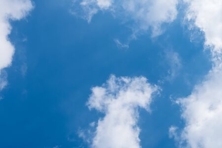 White Cloud Blue Sky pictures background and texture for the fresh beautiful day concept and natural green environmental ecosystem perception
