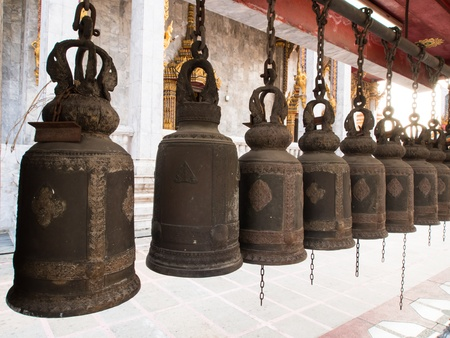 Thai Bells In Wat Hua Lamphong Temple Stock Photo - 17575051