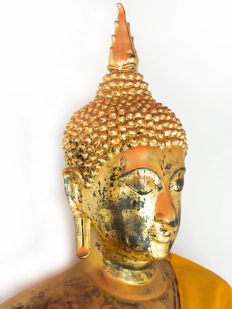 Golden Buddha On White Background Stock Photo - 17692043