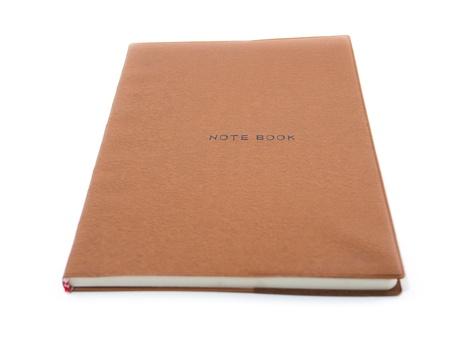 Brown notebook photo