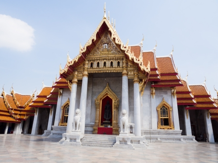 Marble Temple or Wat Benchamabophit, bangkok, thailand photo