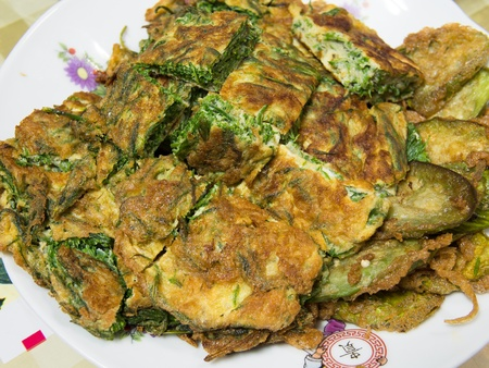cha-om kai, Acacia Pennata, Omelet Thai Style Stock Photo - 18272235