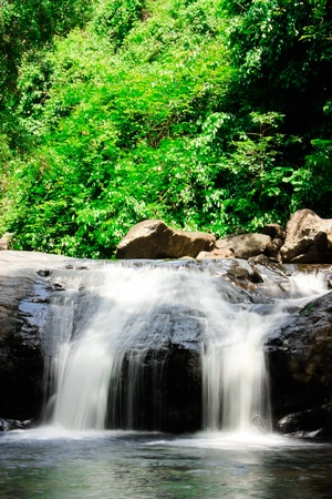 Beauty small waterfall photo