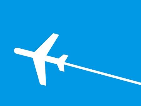 silhouette of jet airplane photo