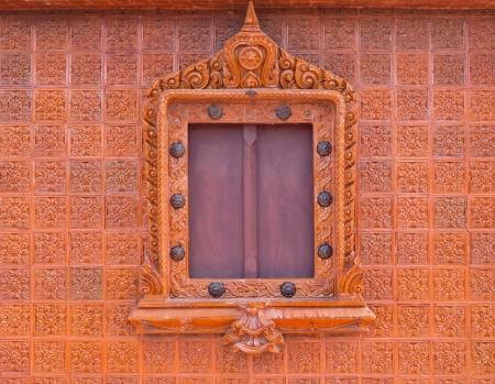 matrass: Thai style buddhism temple window Stock Photo