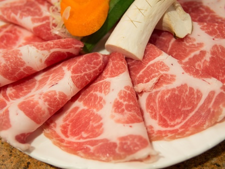 Freshness meat for BBQ photo