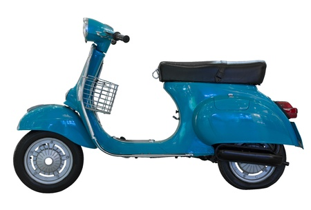 Classic Italian scooter isolated on white background photo