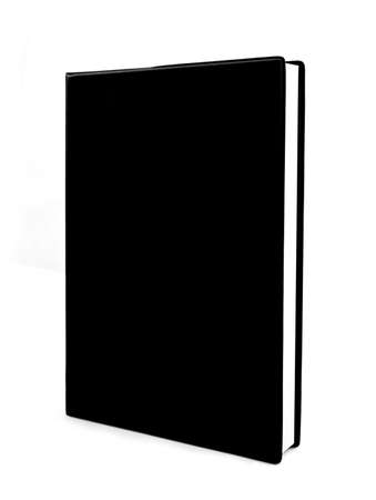 black book isolated on white background Imagens
