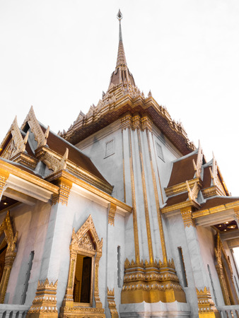 wat traimit: Thai architecture at Wat Traimit, China town, Thailand Stock Photo