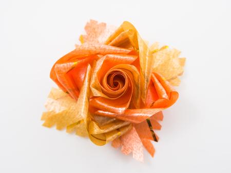 ribbons and bows: Orange gift bows with ribbons