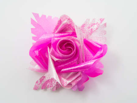 Pink gift bows with ribbons photo