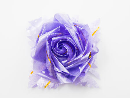 Purple gift bows with ribbons photo