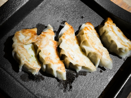gyoza: gyoza dumplings Stock Photo