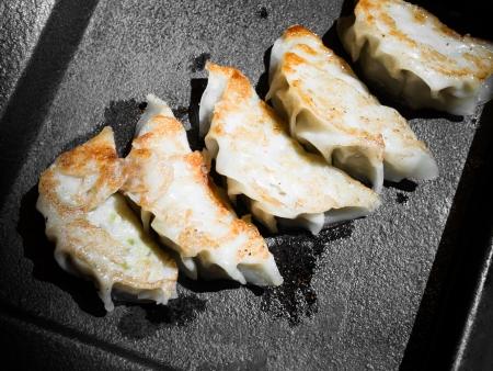gyoza: gyoza dumplings Stock Photo