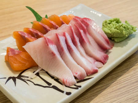 sashimi hamachi and salmon photo