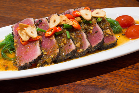 Spicy Tuna, Fusion Japanese Cuisine Banque d'images - 25787236