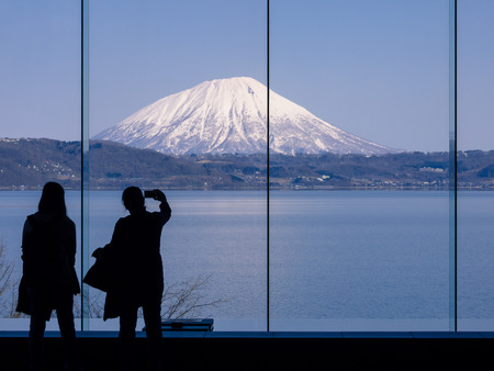 Look to Yotei mountain or Little Mt.Fuji of Hokkaido, Japan photo