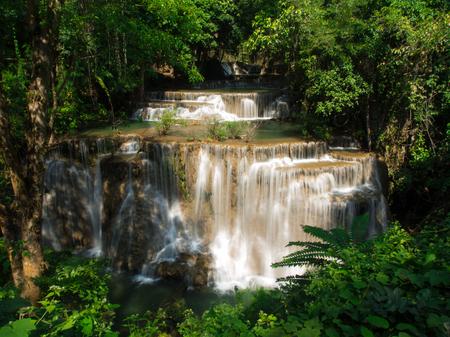 khamin: Waterfall at Huay Mae Khamin National Park, Thailand