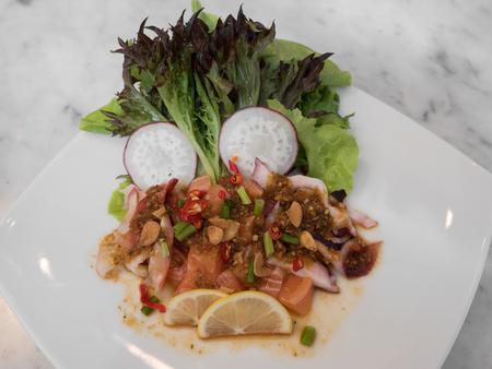 sashimi spicy salad photo