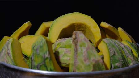 Pumpkins in sweet coconut milk,Thai dessert