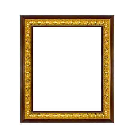 The frame isolated on the white background photo