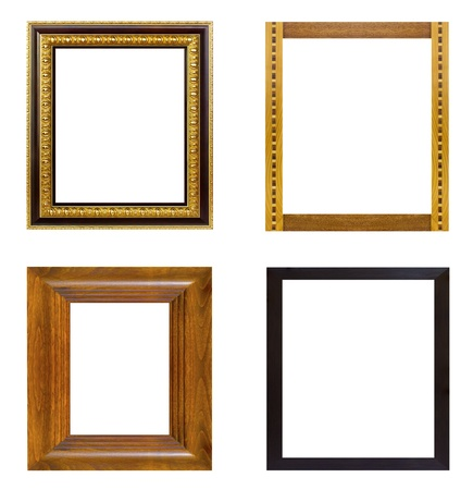 The antique frame on the white background Stock Photo - 15335621