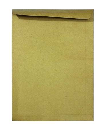 Mini brown Envelope on white background