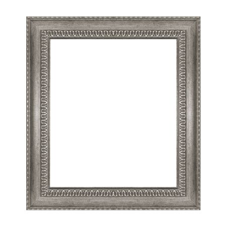 The old frame isolated on the white background photo