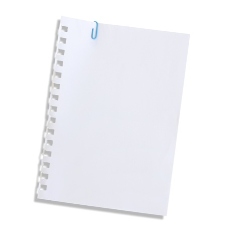 The white paper notes on a white background